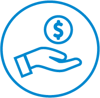 icon hand holding money