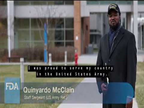 FDA OHE Inclusion of Veterans in Clinical Trials Image Quinyardo McClain, Staff Sergeant (US Army Ret.)