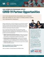 COVID-19 Partner Opportunities Fact Sheet