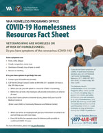 COVID-19 Homelessness Resources Fact Sheet