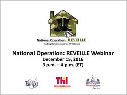 Operation Reveille Webinar