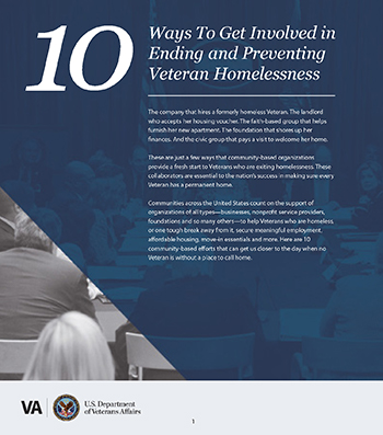 10 Ways to End to End Veteran Homelessness Fact Sheet