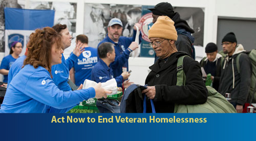 Act now to end veteran homelessness