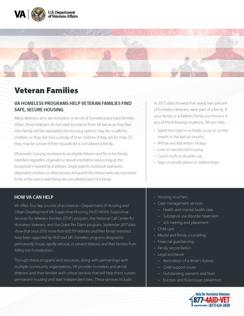 Veteran Families Fact Sheet