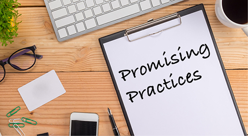 Promising Practices written on clipboard