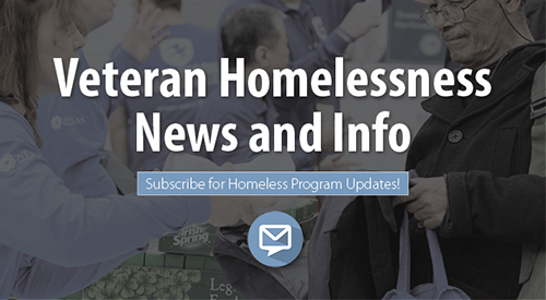 Veteran Homelessness News and Info