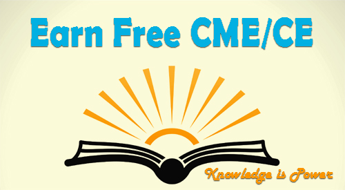 image showing an open book and says Earn Free CME/CE