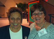 Chris Engstrom with Donna Shalala