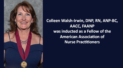 Colleen Walsh-Irwin Inducted as Fellow of AANP