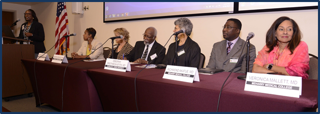 Yolanda Wimberly, MD, Morehouse School of Medicine; Sandra Gonzalez, PhD, Charles R. Drew University; Walter P. Bland, MD, Howard Univeristy; Deborah Prothrow-Stith, MD, Charles R. Drew School of Medicine; Richmond Akatue, MD, Meharry Medical College;  and Veronica Thierry Mallett, MD, Meharry Medical College