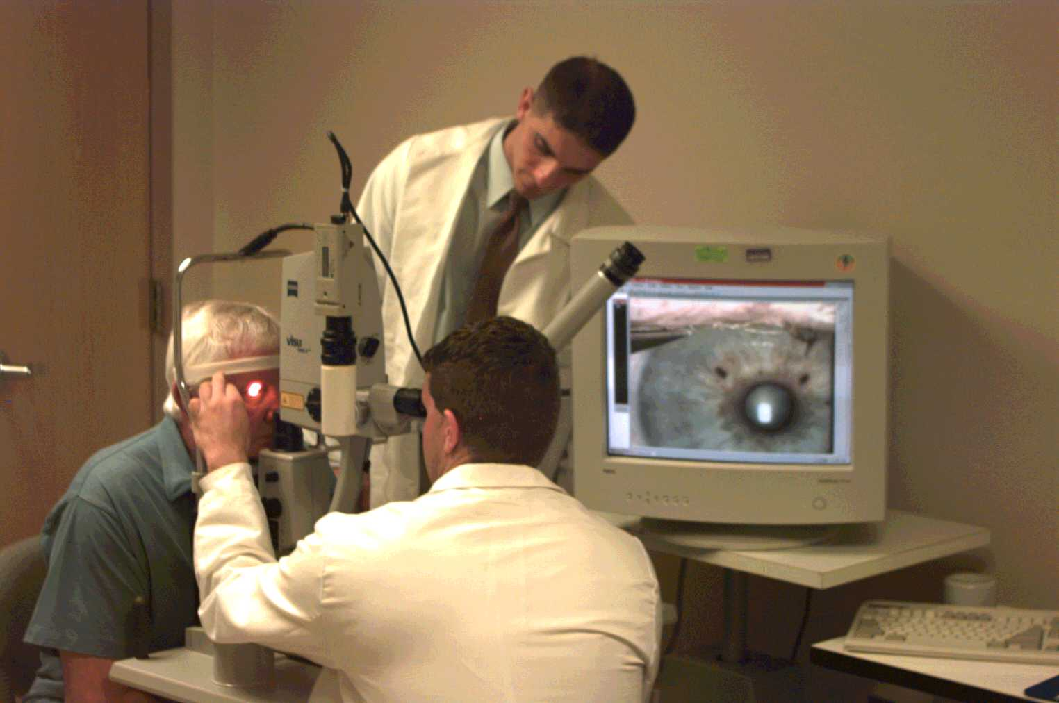 Photo of a student observing a clinical procedure.