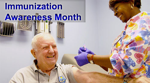 veteran receiving vaccine