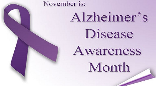 Alzheimer's disease awareness monthly campaign for October