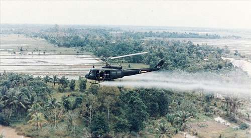 Agent Orange and other herbicides being used in Vietnam