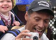 Veteran with his daughter.