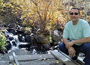 Navy Veteran and Peer Support Specialist David Muniz on a hiking trip.