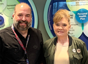 Army Veteran Jennifer Yarbrough and Chad Hunley, Whole Health Coach.