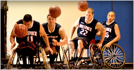 Photo of Wolfpack wheelchair basketball team