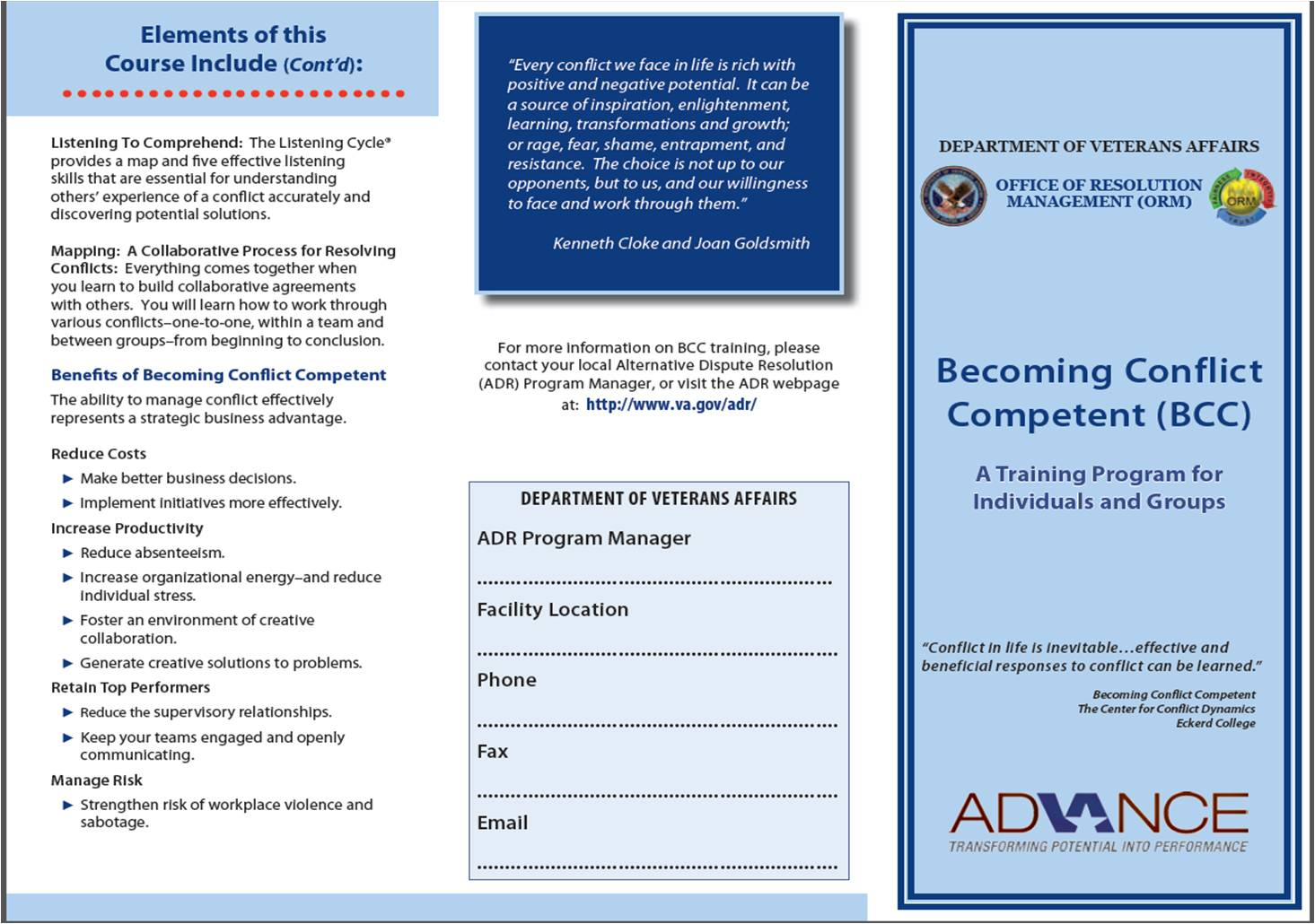 Becoming Conflict Competent Brochure