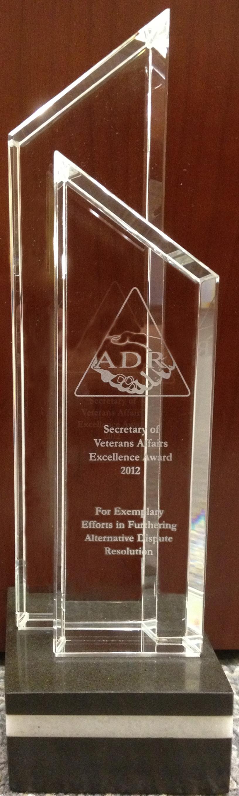 2013 ADR AWARDS - Alternative Dispute Resolution (ADR)