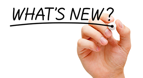 Hand writing what's new? on board