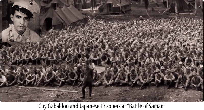 Guy Gabaldon and Japanese prinosers at 'Battle of Saipan'