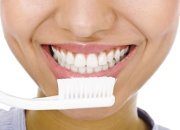smiling teetch and toothbrush
