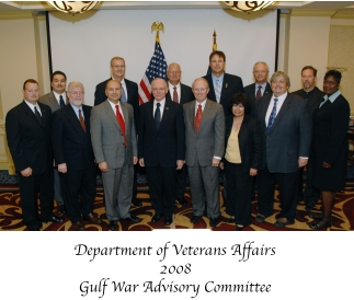 Group photo of Gulf War Advisory Committee members