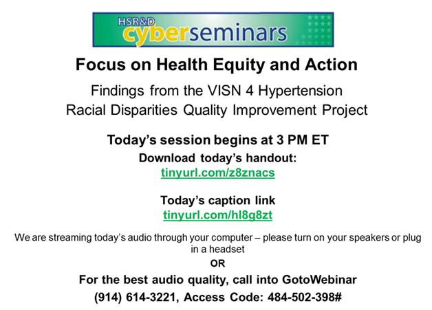 Partnership in Pursuit of Health Equity: Focus on Minority Veterans