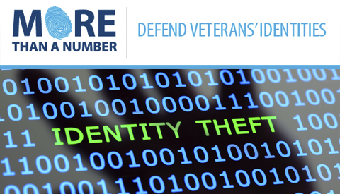More Than a Number | Defend Veterans' Identities - Identity Theft on Digital Background