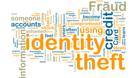 Identity theft word cloud