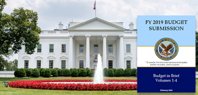 Picture of the White House with a graphic showing the Fiscal Year 2019 budget.