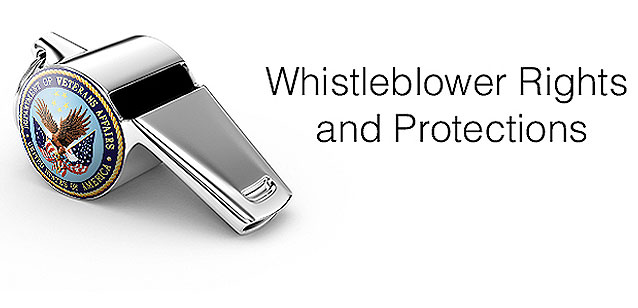 Picture of a whistle with the words whistleblower rights and protections