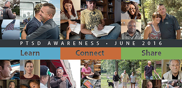 June is PTSD Awareness month. Click to learn more
