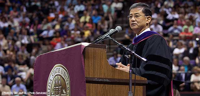 VA Secretary Eric Shinseki speaking