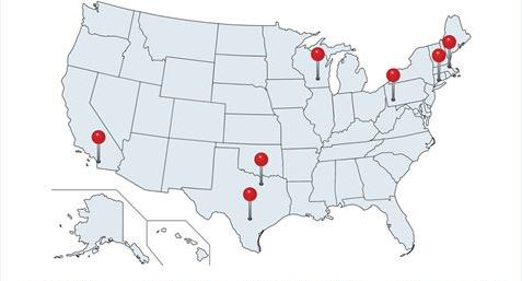 map of nterprofessional Advanced Fellowship in Addiction Treatment