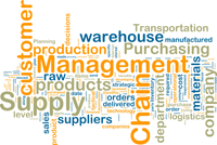 Supply Chain Logistics word cloud