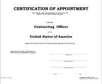 SF 1402 Certificate of Appointment