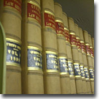 Image of law books on a shelf