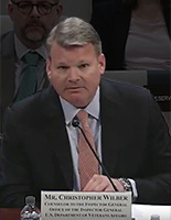 Christopher Wilber, Counselor to the Inspector General Testifying