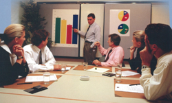 Office workers attending a meeting
