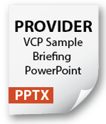 VCP Sample Briefing for Providers Icon