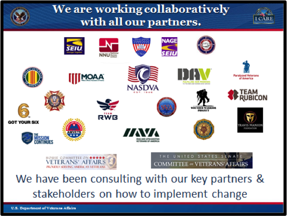 CHART 5:  INCREASING COLLABORATIONS TO BEST SERVE VETERANS. The content on this slide is explained below