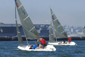 Participant sailing at the National Veterans Summer Sports Clinic.