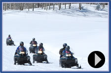 Snowmobiling and Downhill Skiing - The Winter Sports Clinic is all about skiing, but it's also a chance for veterans with disabilities to get out of their chairs and experience activities they never thought possible. One of those activities is snowmobiling.