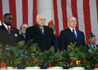 Chaplain Michael McCoy, Vice President Dick Cheney, and Secretary James B. Peake, M.D.
