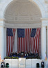 The stage inside the Memorial Amphitheater at Arlington National Cemetery