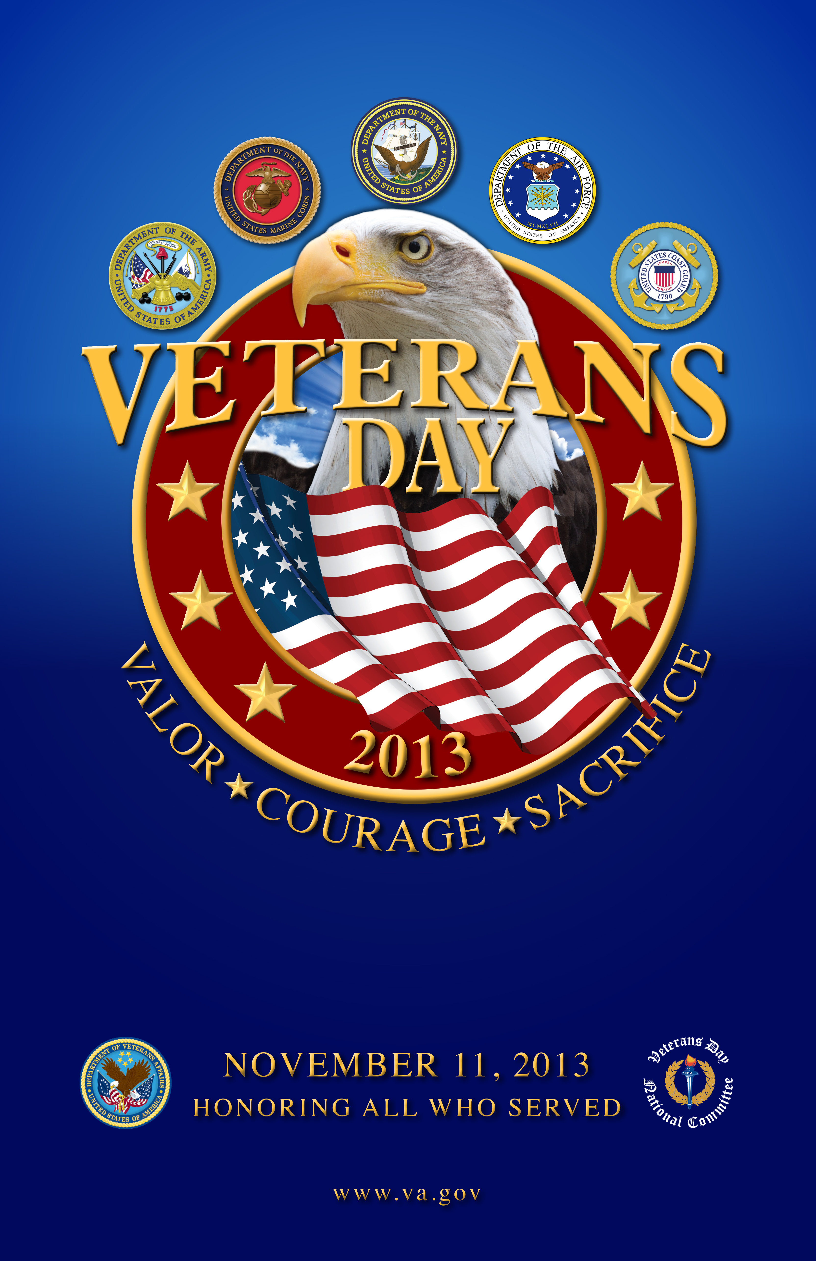 Poster for Veterans Day 2013, from the Veterans Administration