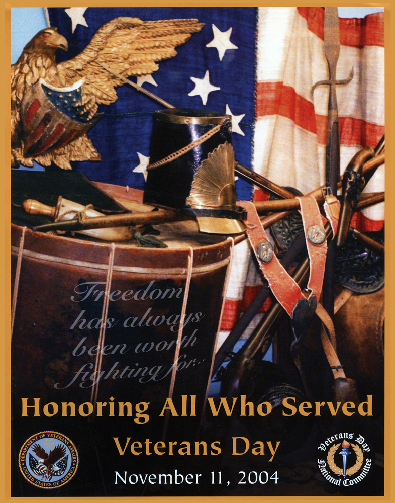 veterans day picture with words eagle and a flag
