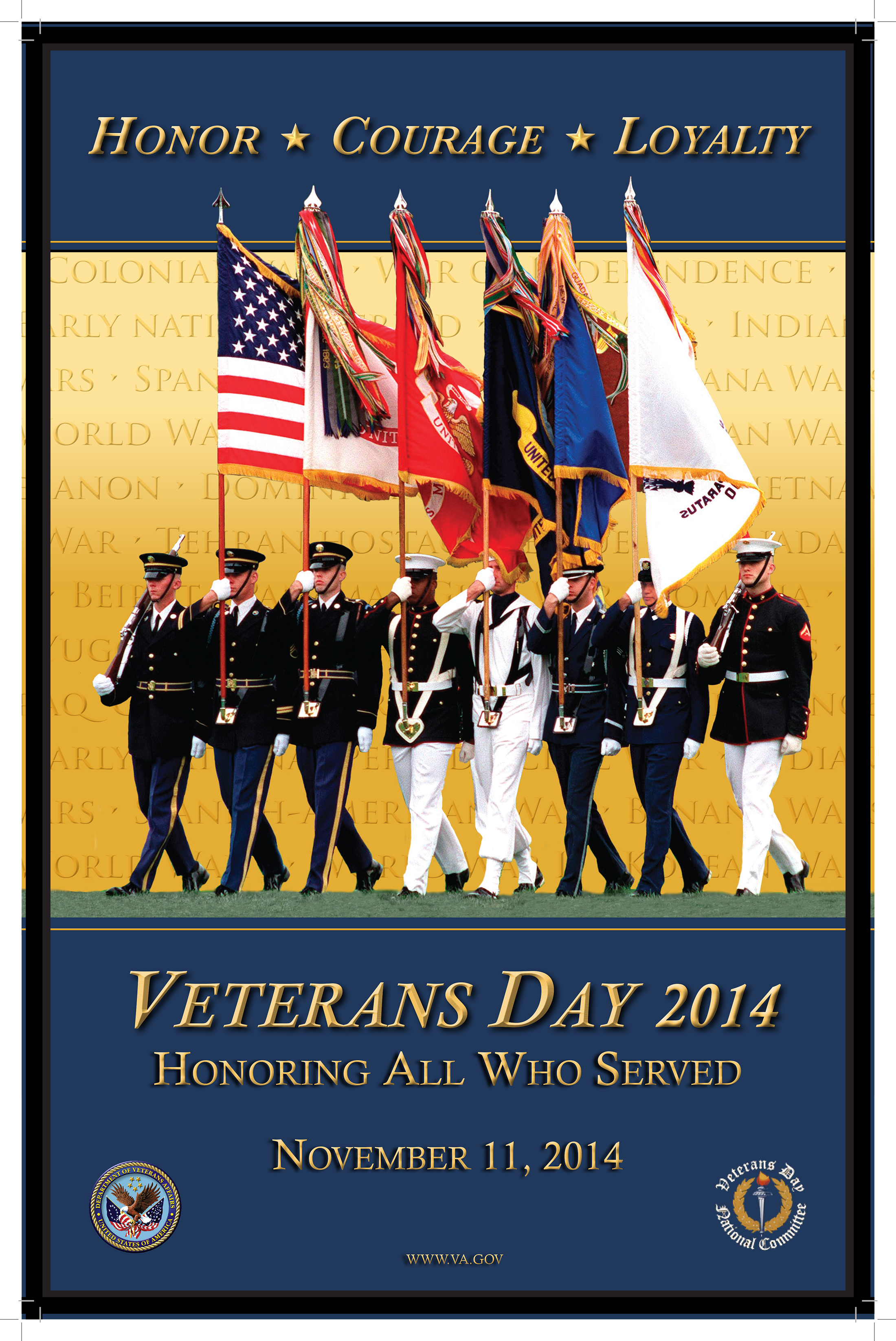 veterans day flyer template free